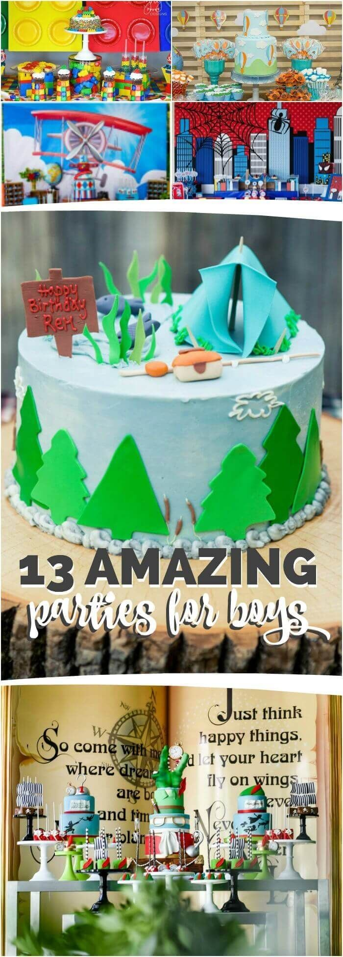 Best Birthday Party Themes for Boys, These Ideas Will Give You Great Inspiration For Your Next Party, Pin Now To Save For Later!