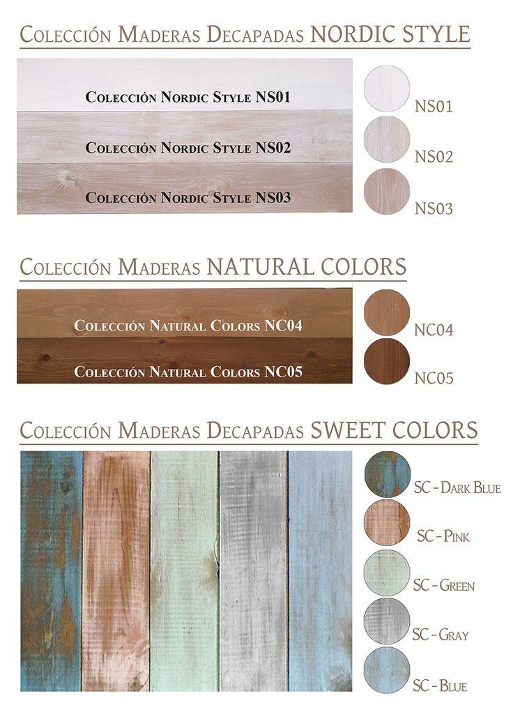 Colores de Maderas para suelo y revestimiento zelart