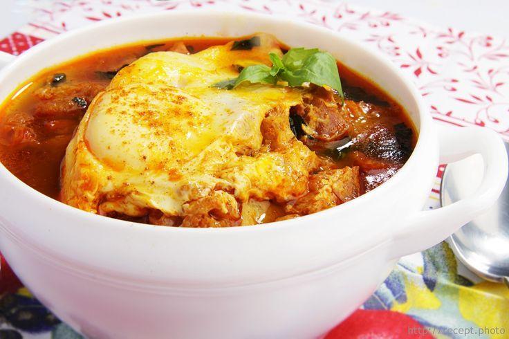 Чесночный суп картофельное пюре