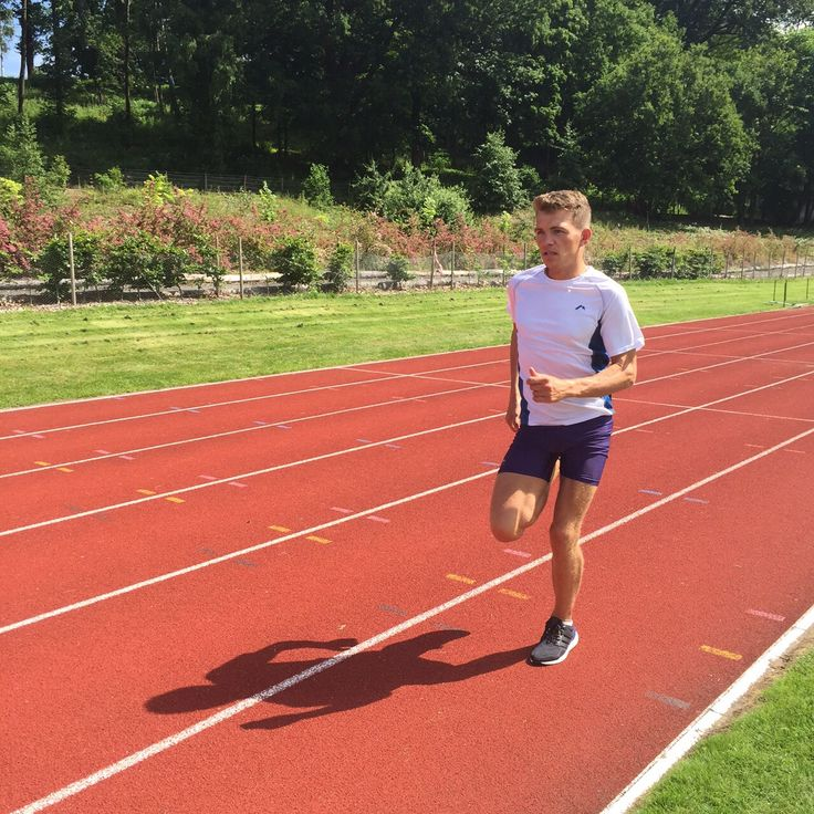 Andrew Butchart, elite athlete looking good in More Mile, training on the track.