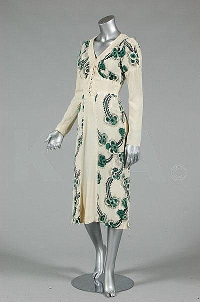 'Floating Daisies' printed moss crepe dress, Ossie Clark & Celia Birtwell, 1970's.