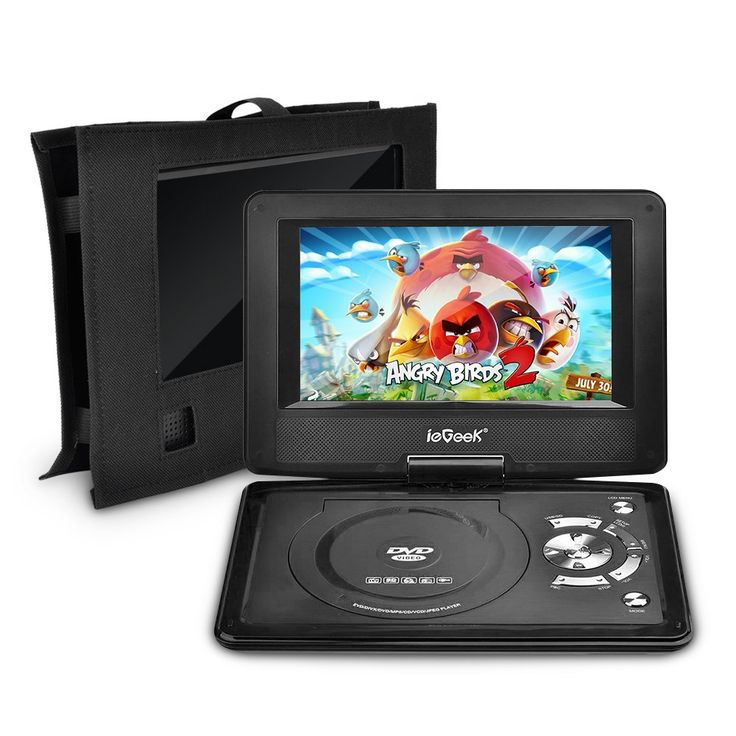 iegeek 125 portable dvd player kit portable dvd player and same size car headrest