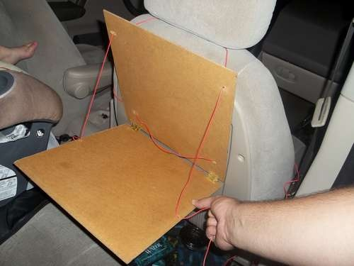 Fold up travel tray for car trips