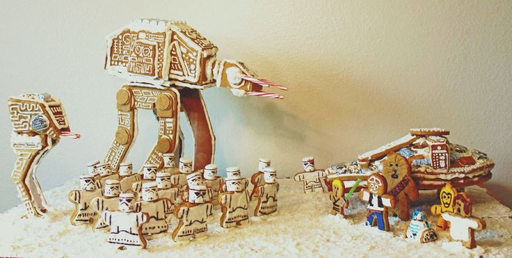 Star Wars Gingerbread Scene!   I spent three weeks this December putting together this Star Wars Gingerbread scene, which I am calling 'Return of the Breadi'.   Enjoy!!   #gingertroopers #starwars #gingerbread