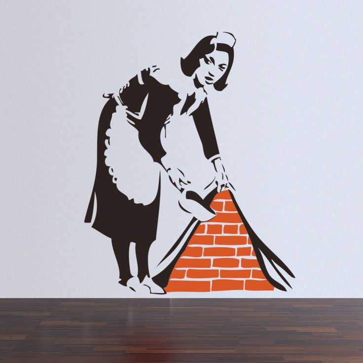 46*57CM Banksy Maid In London Wall Sticker Home Art Decor for home mural wallpaper wall art Decal #Affiliate