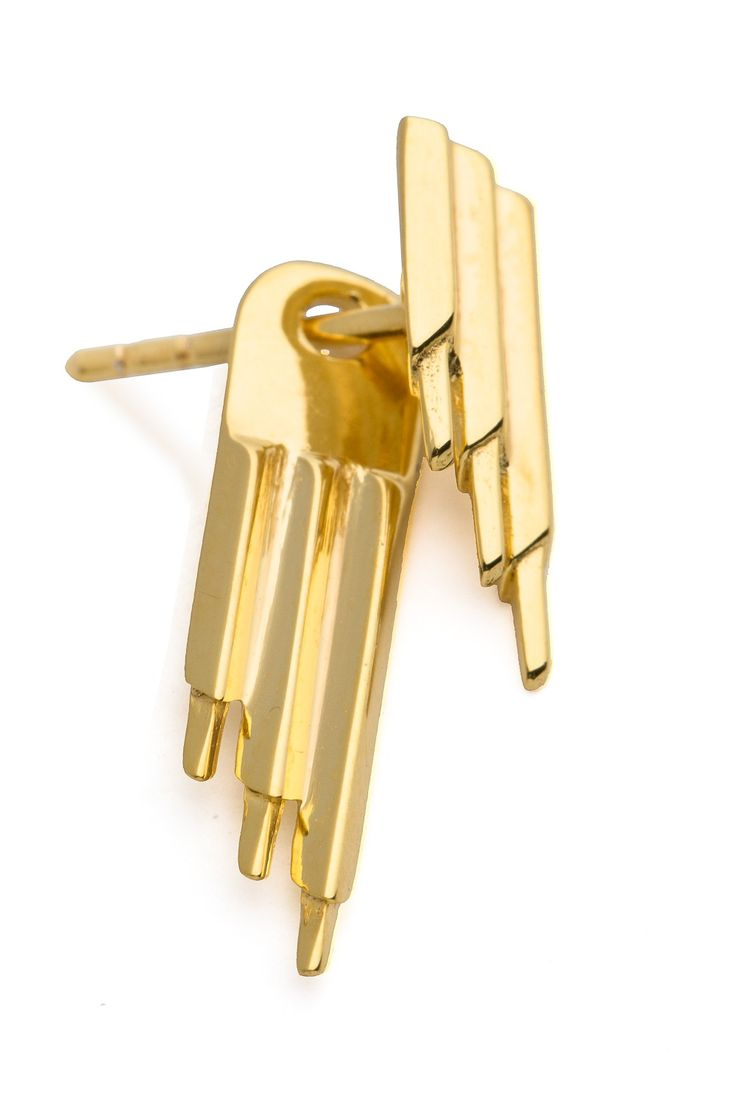 Maria Black Ohrring Siren Reverse High Polished Gold. www.styleserver.de