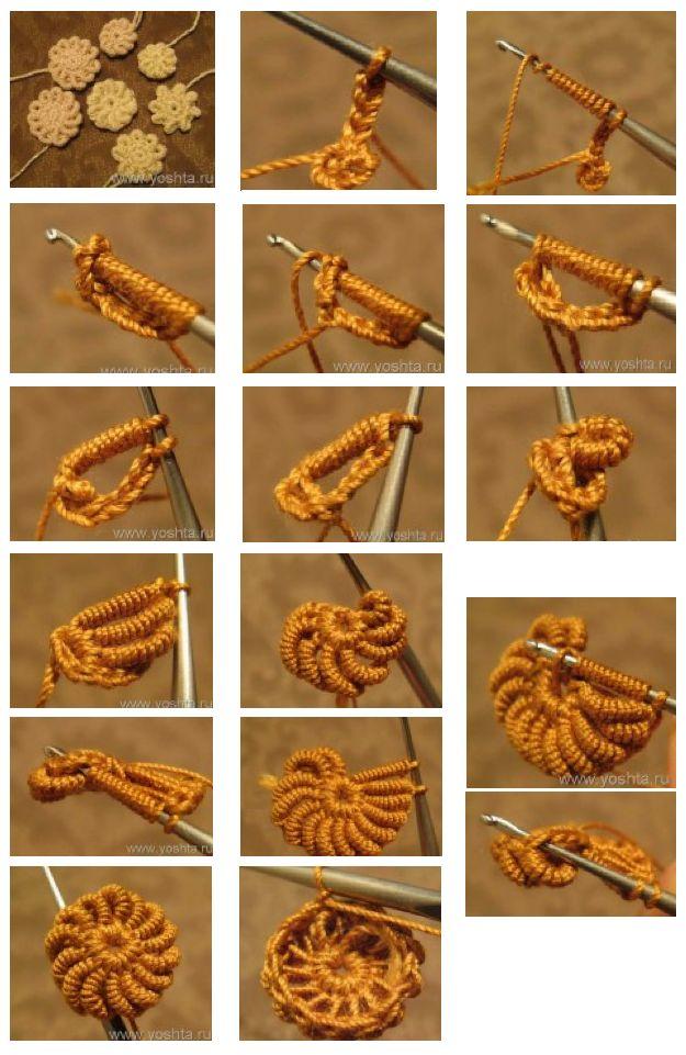 Patrones para Crochet: Tutorial Flores de Crochet