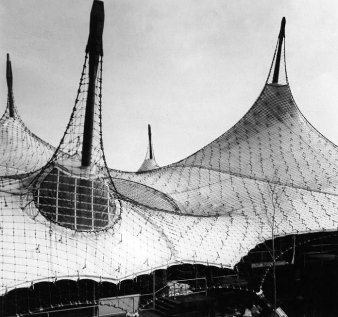 """Frei Otto and Rolf Gutbrod, German Pavilion """"Expo '67"""" in Montreal, (1965-1967)"""