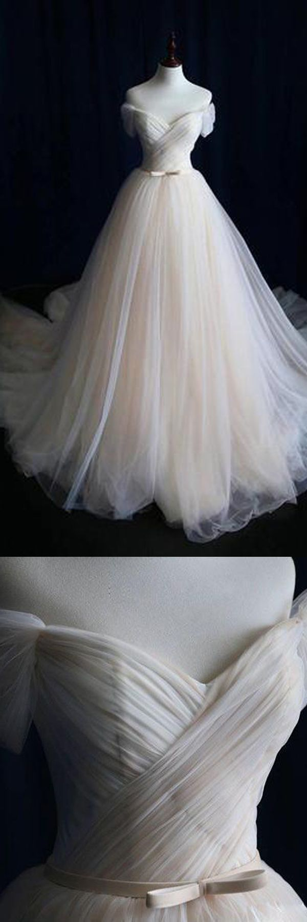 Wedding dresses com  Ball Gown Tulle Sweetheart Lace up Bowknot Wedding DressesWedding