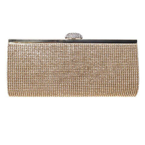 New Trending Clutch Bags: Fashion Road Evening Clutch, Womens Luxury Shining Rhinestone Clutch Purses, Handbag For Wedding  Party Gold. Fashion Road Evening Clutch, Womens Luxury Shining Rhinestone Clutch Purses, Handbag For Wedding  Party Gold  Special Offer: $18.99  111 Reviews Features: Material: Rhinestone Size: 10*4.7*1.6 inch Color: Silver/Gold Package: A Evening Clutch Design  Occasion This...