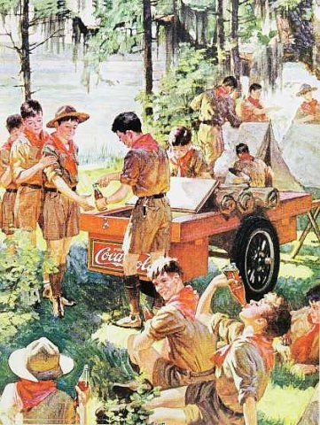 Boy Scouts Vintage Coca-Cola Ad