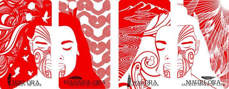 B.WAIPUKAart | Niu | Maori Oracle Cards | Maori | Maori Artist | New Zealand Art…