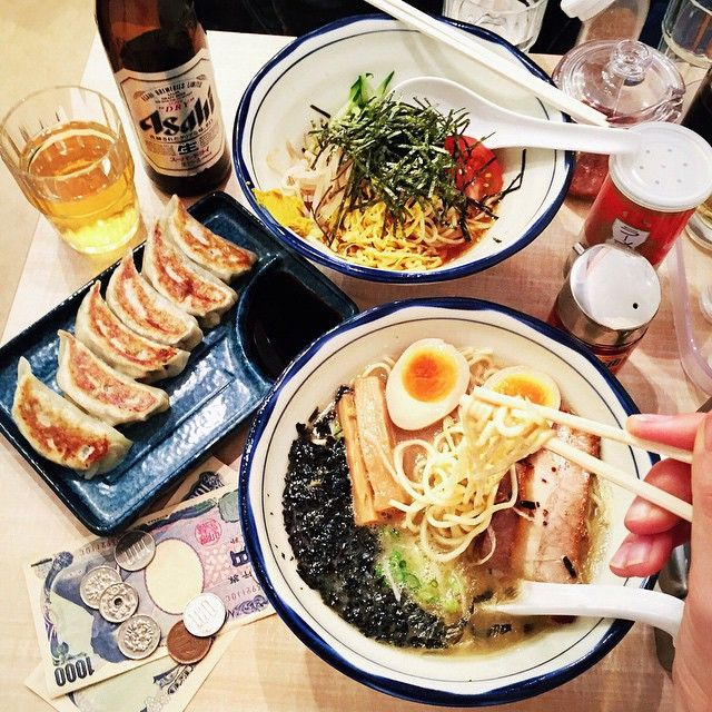 The way to my heart is through ramen. And gyoza. And beer. ❤️