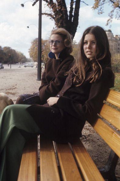 Grace & Caroline of Monaco in Paris c.1976