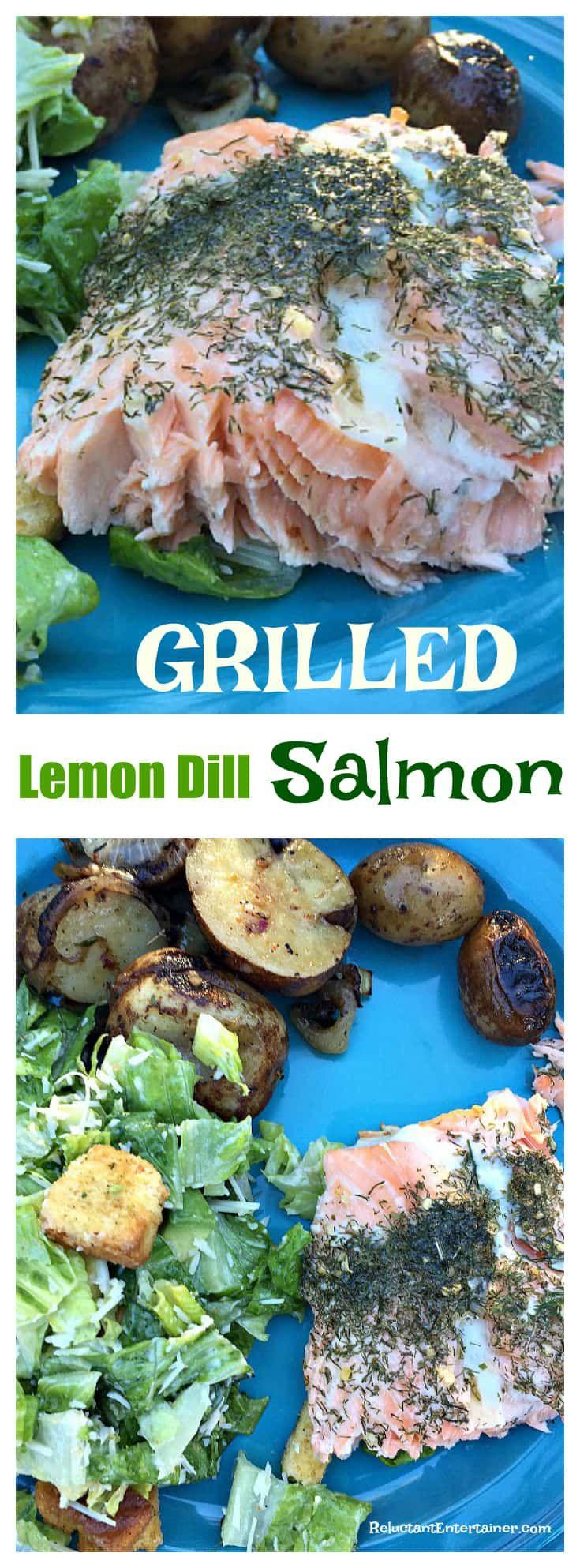 Grilled Lemon Dill Salmon