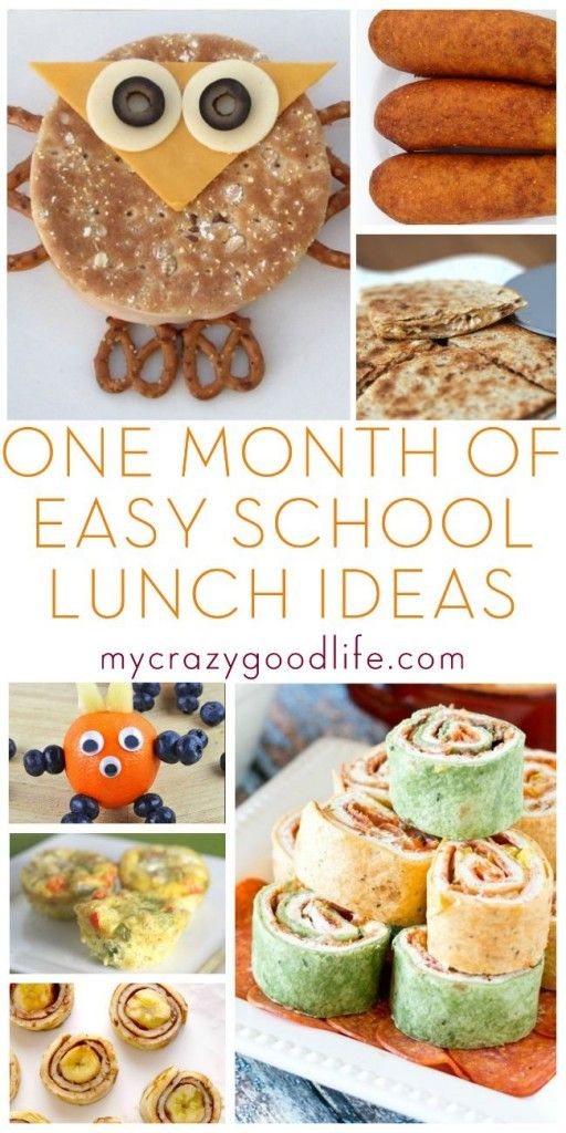 25 school lunch recipes for your little (or big) one! We are always in need of some fun and easy school lunch ideas!