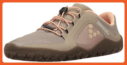Vivobarefoot Women's Pirmus FG Firm Ground Off Road Trail Running-Shoes, Cobblestone, 39 D EU (8 US) - Athletic shoes for women (*Amazon Partner-Link)
