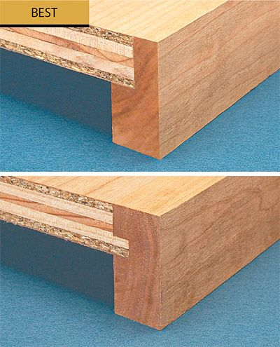 strengthening plywood shelves with edging