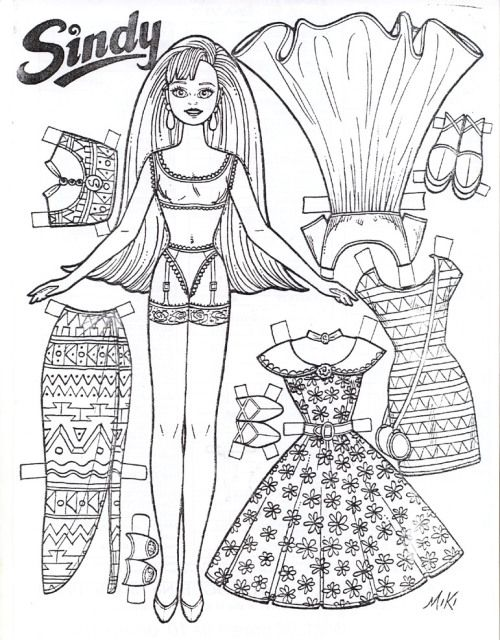 Sinday Paper Doll By Miki