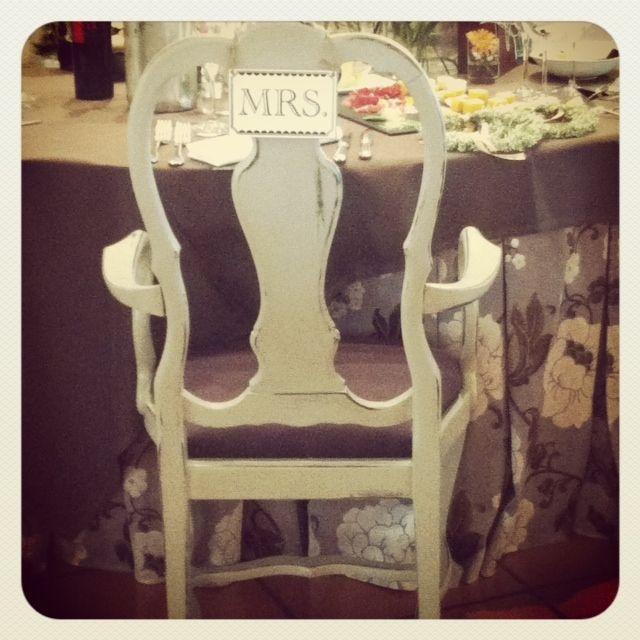 Detalle de la silla de la novia
