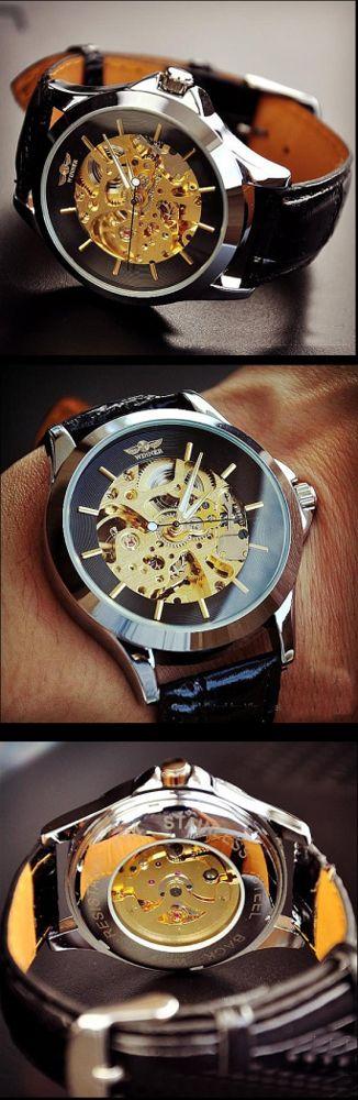 Stan vintage watches — Steampunk Watch Men (M104-BLACK)