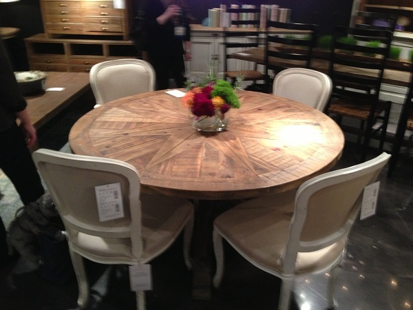 Round Wood Dining Table By Four Hands Furniture.