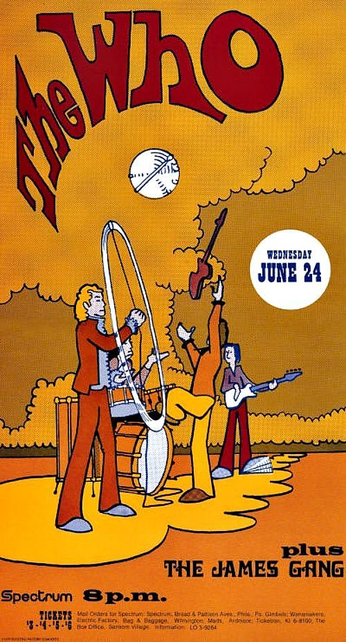 ¿Quiénes? The Who and The James Gang (1970).