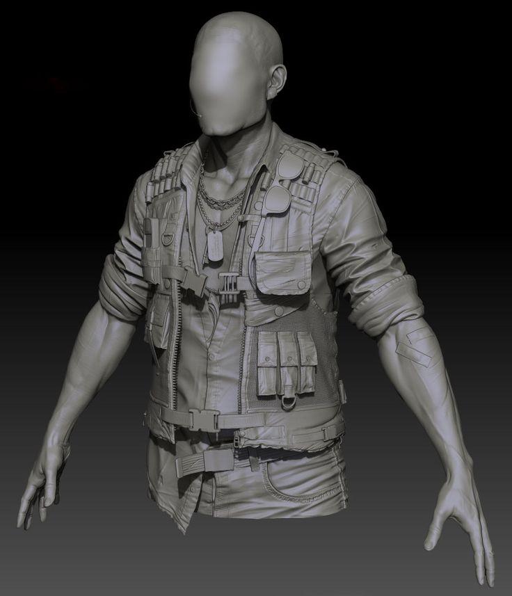 Clothing sculpt 1, Jon Berry on ArtStation at https://www.artstation.com/artwork/clothing-sculpt-1