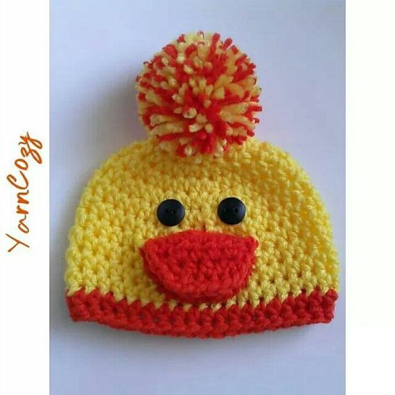 Check out this item in my Etsy shop https://www.etsy.com/listing/203267333/baby-duck-hat-baby-easter-hat-boy-baby
