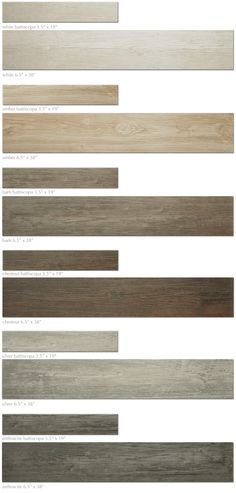 Porcelain wood plank tiles are an excellent option for homes with infloor radiant heat embedded in concrete. ~LC
