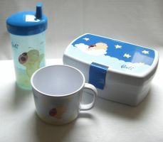 3er Set Brotdose,Kindertasse und Trinklernbecher