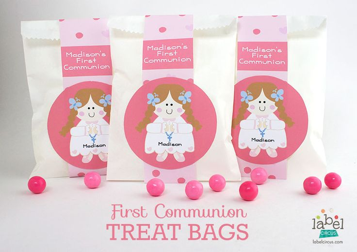 First Communion Treat Bags | Label Circus