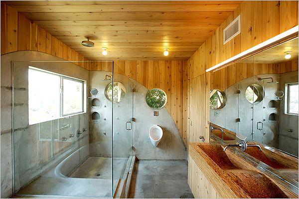 Home decor cedar ceiling bathroom