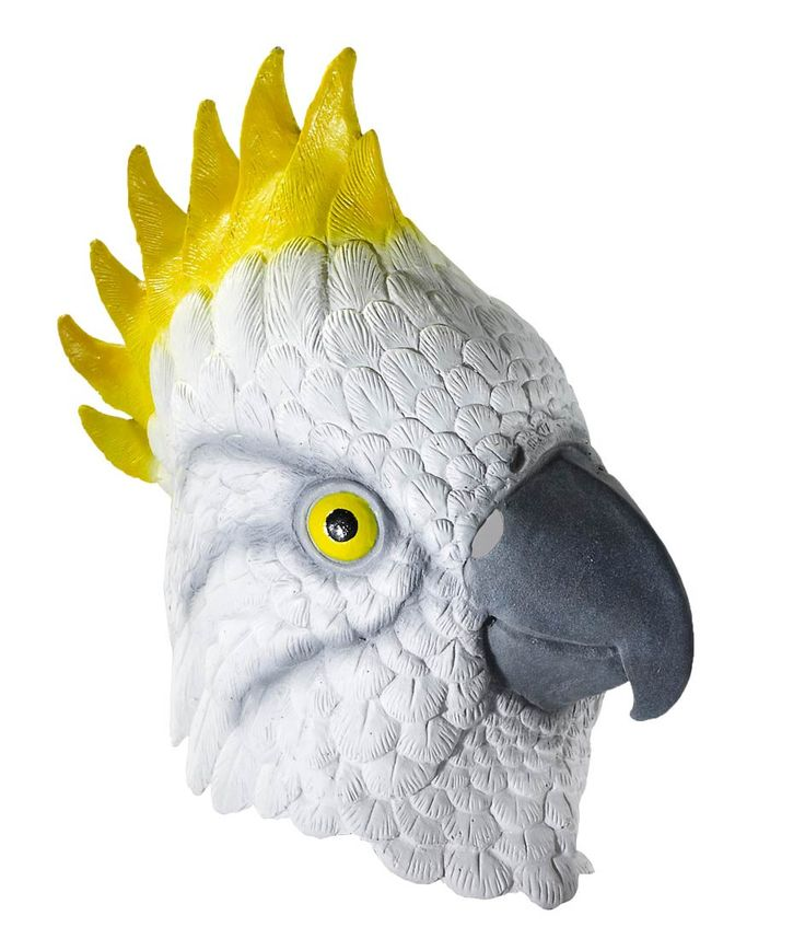 Deluxe Latex Animal Mask Adult: Parrot