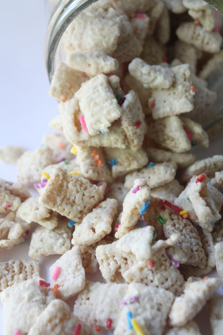 """This stuff definitely deserves the title """"betcha can't eat just one!"""" There are so many different ways you can make this sweet chexmix which is often called muddy buddies or pupp…"""