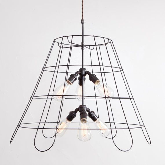 The 25 best vintage lampshades ideas on pinterest bhs co uk 24 inch vintage lampshade frame chandelier pendant by fleamarketrx 78000 greentooth Image collections