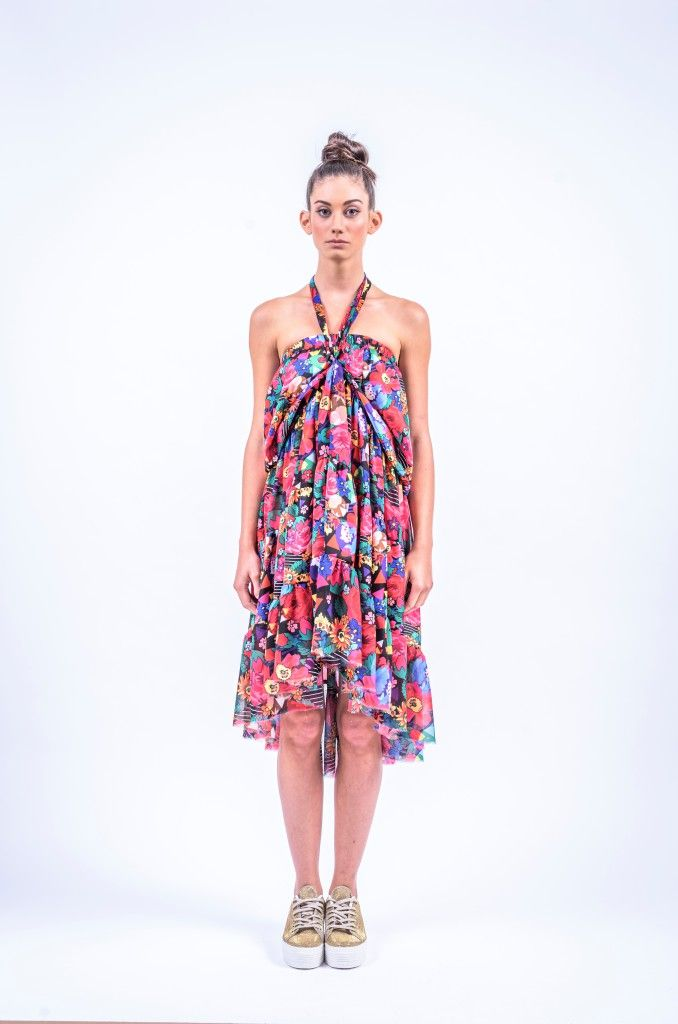 Romani Design, ss17, wanderers of the worlds, roma, gypsy, stripes, striped, floral, print, rose, roses, fashion, flower, flowers, outfit, spring, summer, dress, skirt, midi, maxi, neck, strap