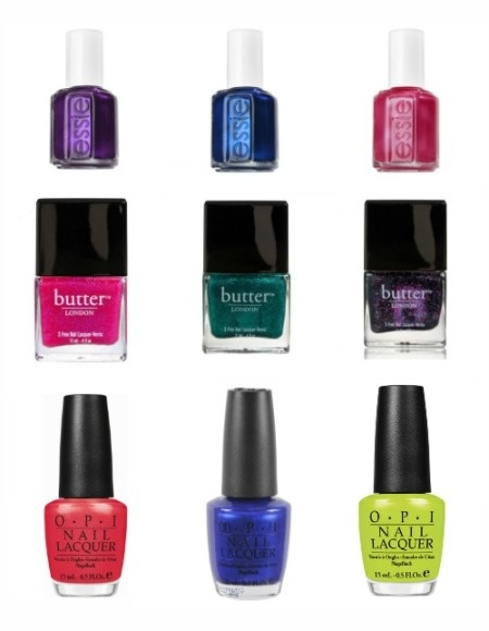 The Perfect Summer Pedicure colors