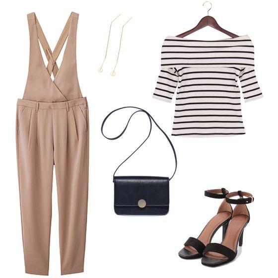 【サロペット】 ponte:サロペット×ボーダーコーデ #サロペ #オーバーオール #fashion #ファッション #womens #ladies #レディース #OOTD #style #outfit #outfits #coordinate #コーディネート #コーデ #ponte #ponte_fashion #spring #春 #summer #夏
