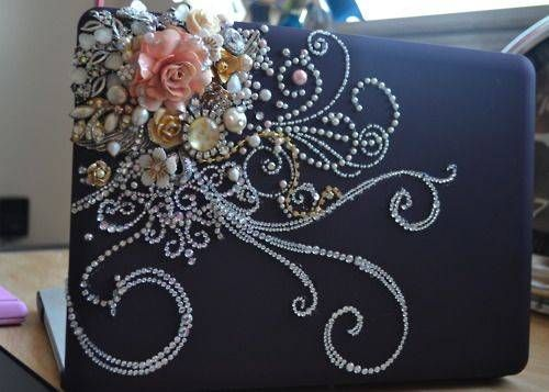 OOHH...so fancy!: Crafty, Laptops, Art, Laptop Covers, Things, Craft Ideas, Diy, Crafts