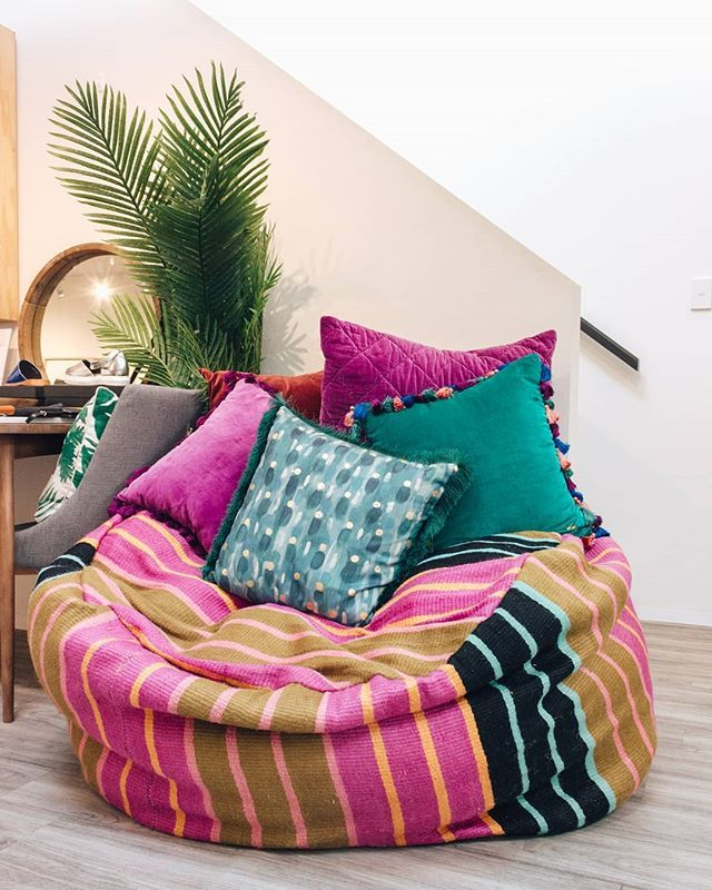 Outstanding Opusdesignstore This Kip Co Giant Stripe Jute Beanbag And Caraccident5 Cool Chair Designs And Ideas Caraccident5Info