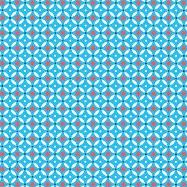 ATW- Dalle de sol PVC auto-adhésive décor imprimé vintage, BLUE STARS