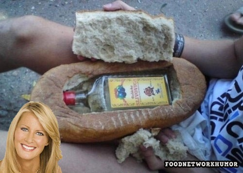 Food Network Humor » What Sandra Lee packs for lunch  @Liz Christ  I saw this pin and after our convo the other night it needed pinned