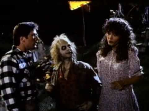 9-8-2013: Beetlejuice (1988).  Early Early Tim Burton Flick.  A really young alec baldwin- that mom from home alone. and Michael Keaton, pre batman, as Beetlejuice-  Talk about a movie that bottles up and serves chilled some of the worst architecture from the eighties.  I think the cartoon is better- but wow what a trip.
