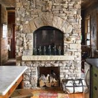 66 best Kitchens with Fireplaces images on Pinterest | Dream ...