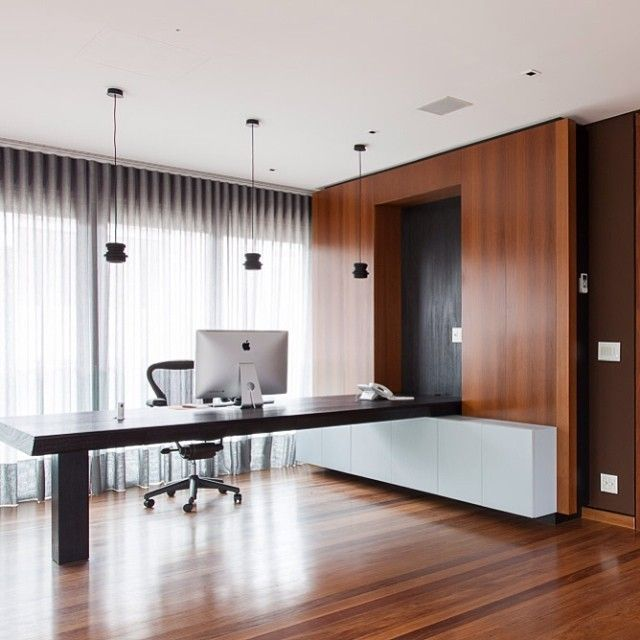Home Office / Suite Arquitetos #homeoffice #wall #lighting