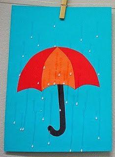 Интересная идея: капельки дождя из клея ПВА. Растем, играем, учимся...: Дождливый день. Аппликация.