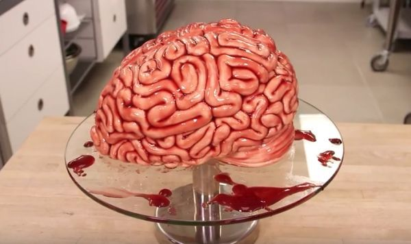 Making a Realistic Brain Cake