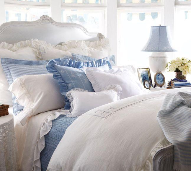 Här sover man gott. Miljö och sänglinnen från Ralph Lauren Home och kollektionen Rosecliff.