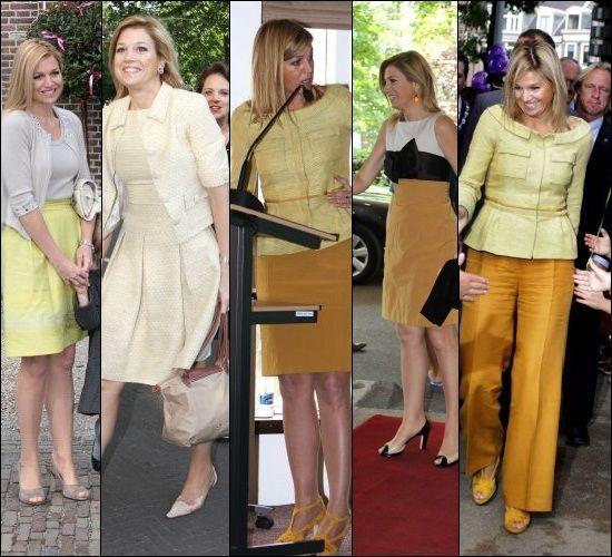 De gele kleding van prinses Maxima